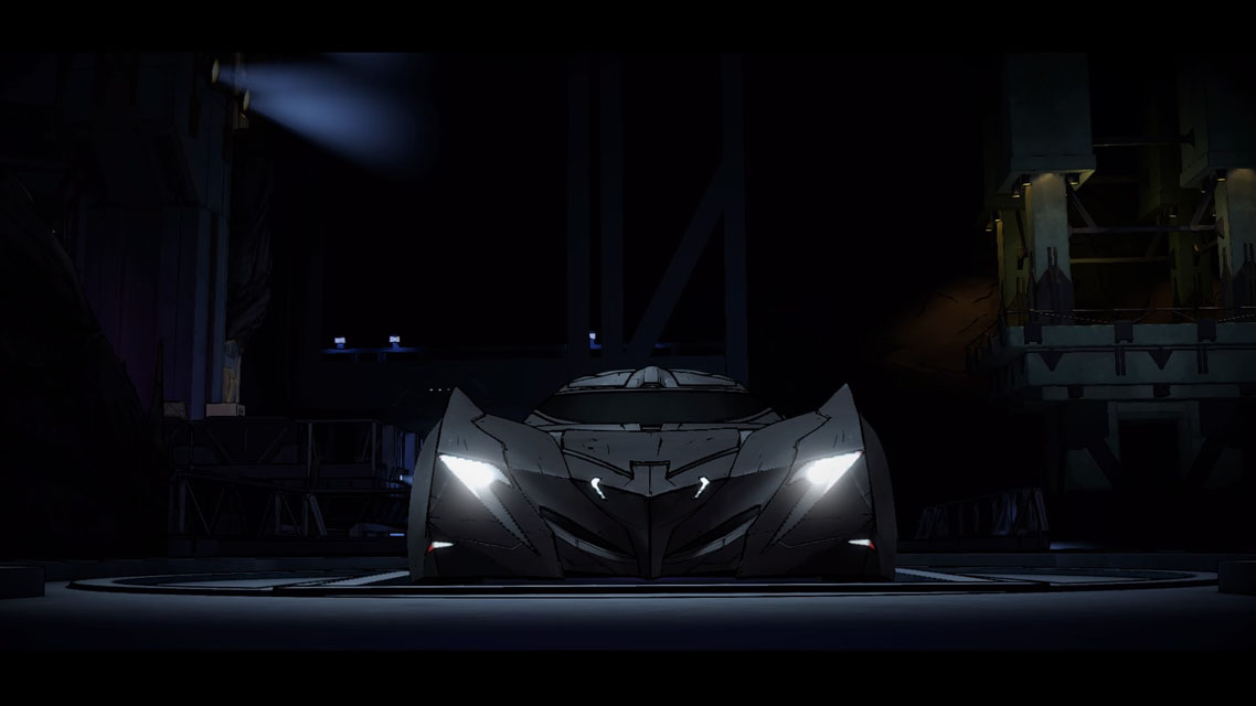 La Batmobile dans Batman The Telltale Series, les enfants d'Arkham