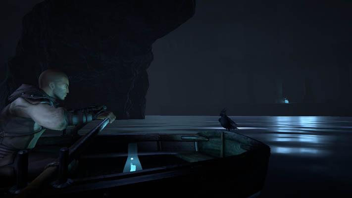 Crow et Kian sur le bateau - Dreamfall Chapters Redux