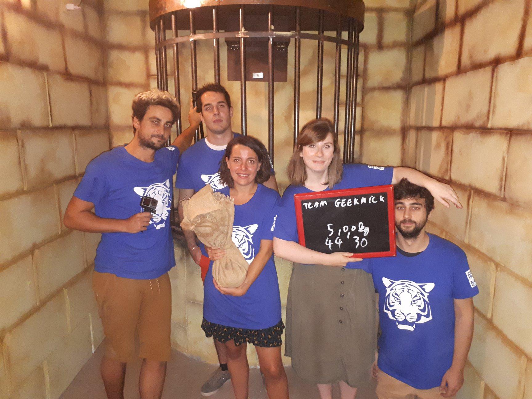 L'équipe Geekmick pour Fort Boyard chez Team Break