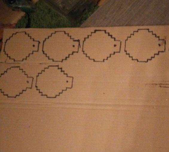 Préparation des boules 8-Bit de Noël