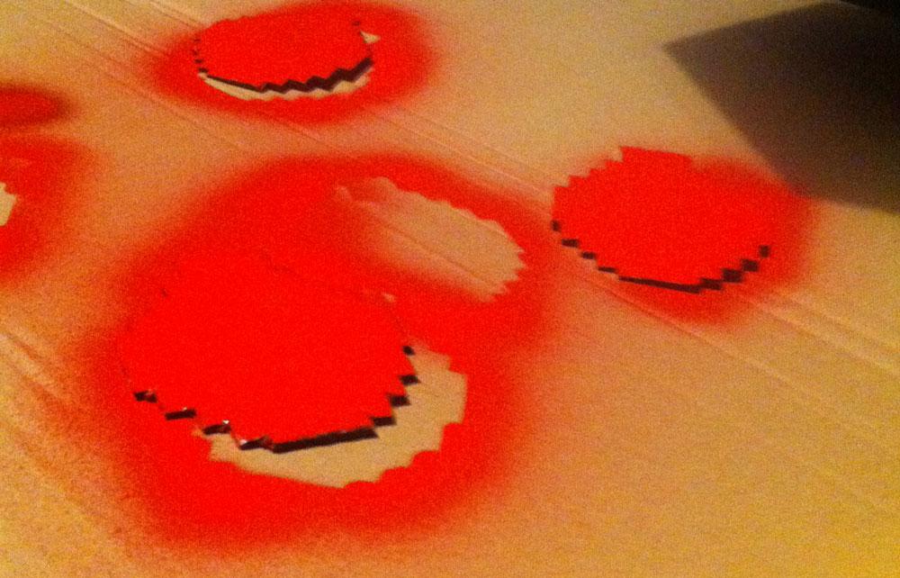 Peinture des boules 8-Bit de Noël