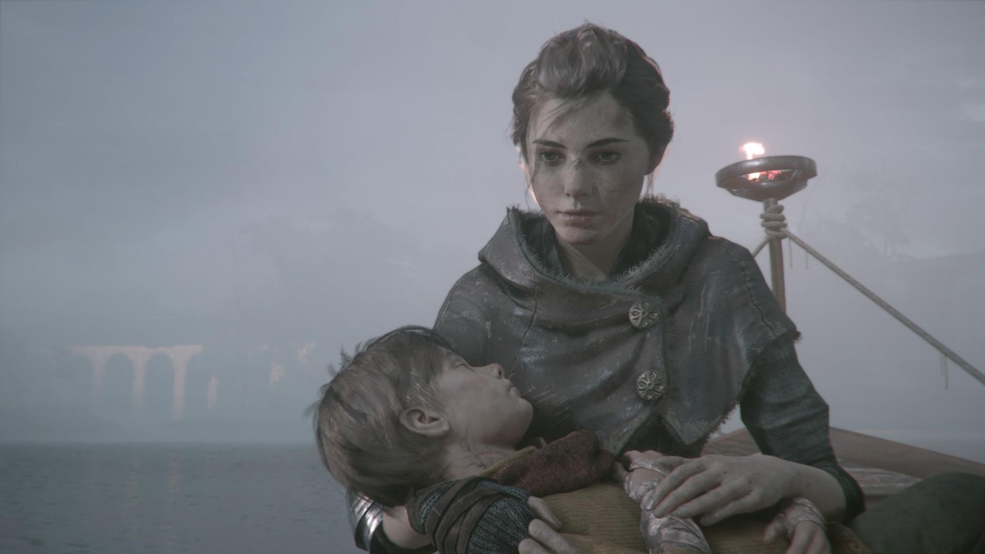 Hugo et Amicia dans A Plague Tale : Innocence