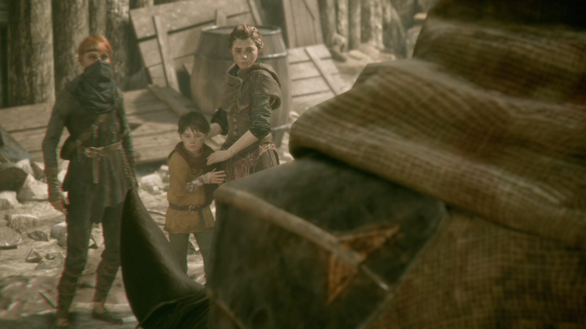 Amicia, Hugo et Melie dans A Plague Tale Innocence
