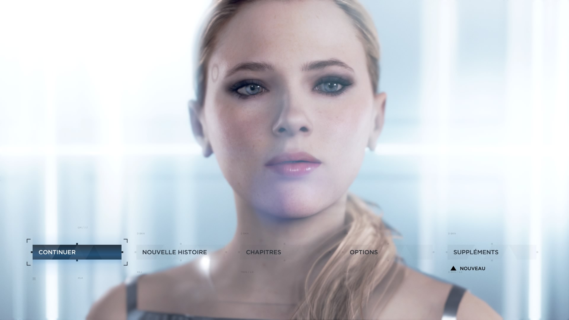 Androïde Interface Accueil Detroit Become Human