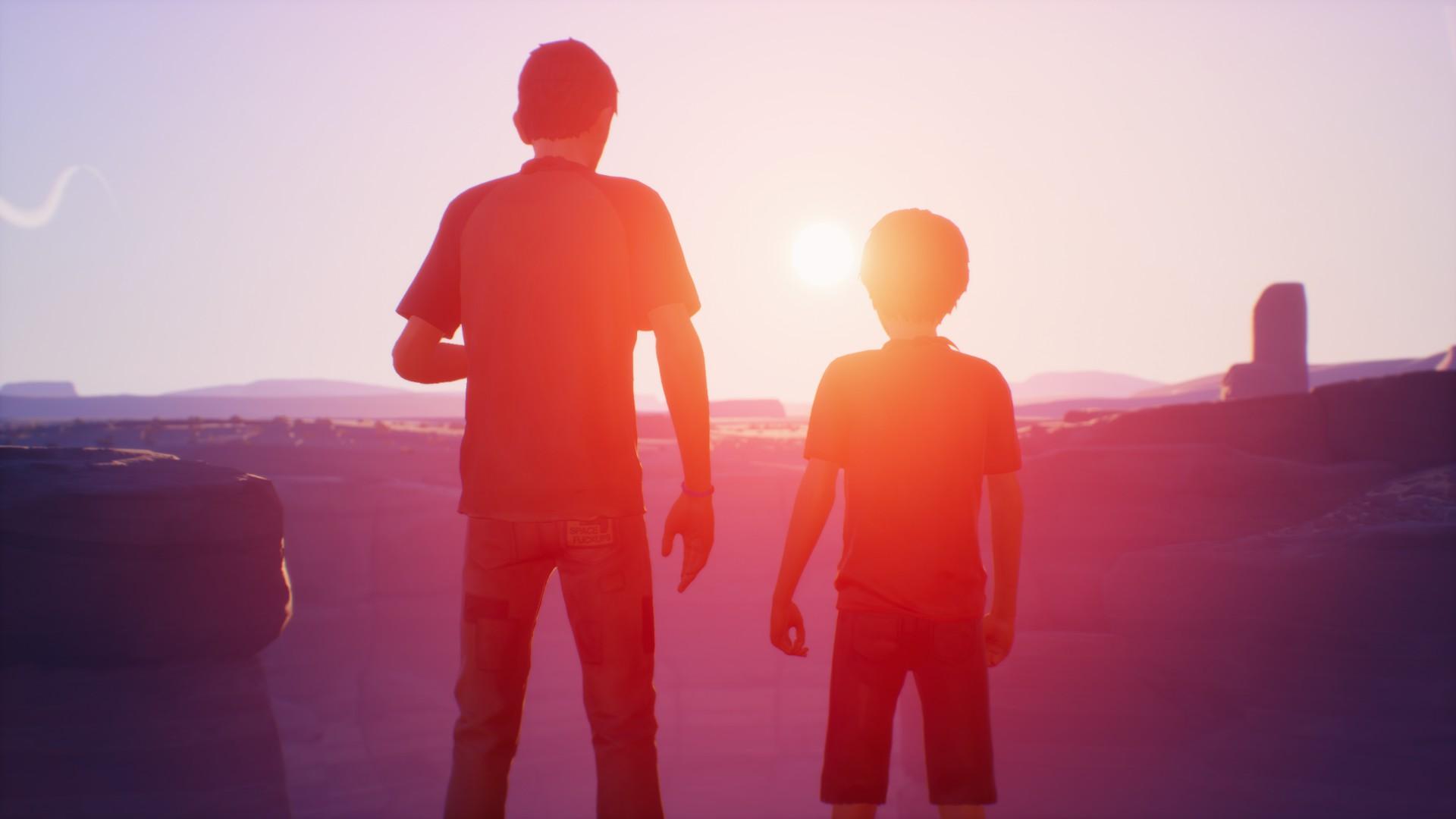 Sean et Daniel devant un canyon
