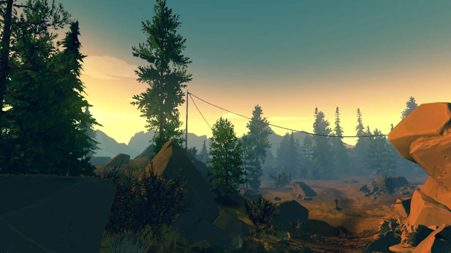 Test PS4 de Firewatch
