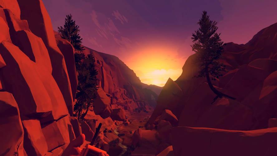 Graphismes coucher du soleil Firewatch PS4