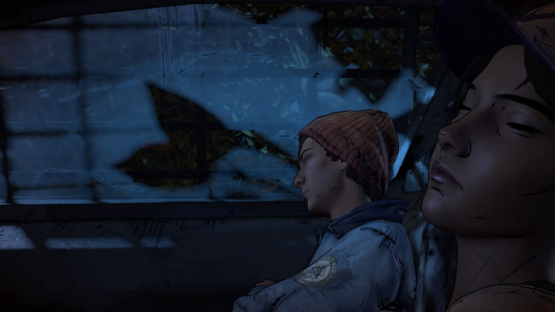 Gabe & Clementine dans The Walking Dead Telltale : A new Frontier